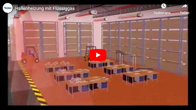 Energieversorgung mit Flüssiggas für Hallen