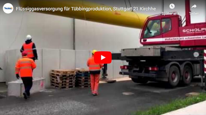 Flüssiggasversorgung für Tübbingproduktion
