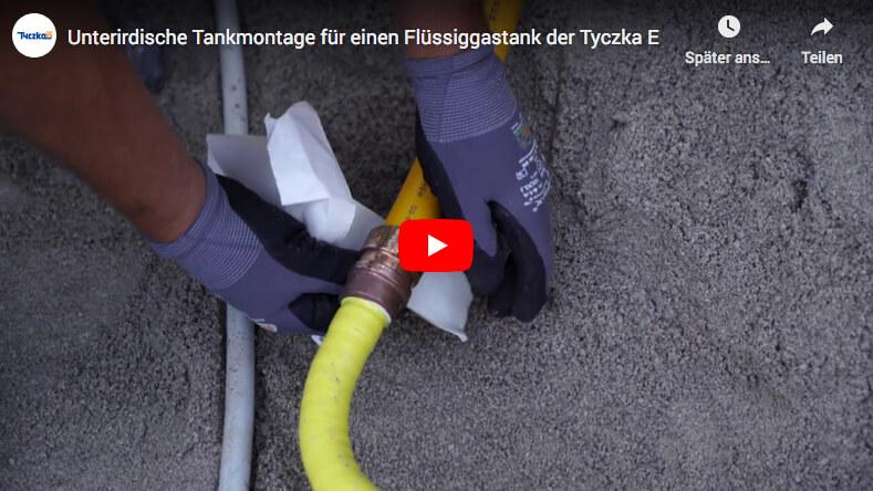 Unterirdische Tankmontage für einen Flüssiggastank
