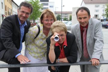 v.l.n.r.: Stephan Heinle (Konfliktcoaching), Astrid Gövert (Marketingleitung Tyczka Totalgaz), Cornelia Irmer (Bürgermeisterin), Markus Eder (Geschäftsführer Tyczka Totalgaz)