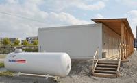 Flüssiggas Versorgung von Baucontainern